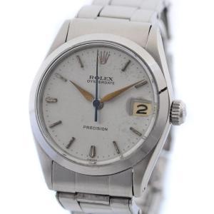 ロレックス オイスター デイト ボーイズ 腕時計 SS ステンレス 手巻き シルバー ウォッチ 8番台 ヴィンテージ 6466 OH済み 中古 ROLEX 送料無料|goldeco