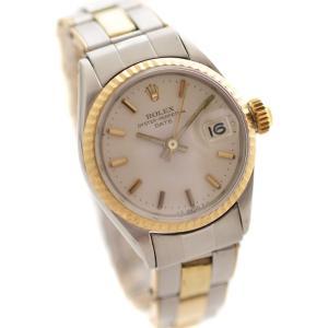 オーバーホール済み 新品仕上げ済み ロレックス オイスターパーペチュアル 腕時計 レディース 自動巻き シルバー文字盤 シルバー ref.6517 中古 送料無料 ROLEX|goldeco