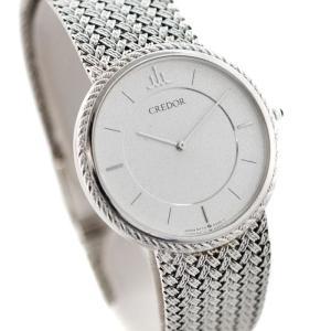 SEIKO セイコー CREDOR クレドール メンズ 腕時計 クォーツ ホワイトゴールド WG KT18 金無垢 5A74-0130 中古|goldeco