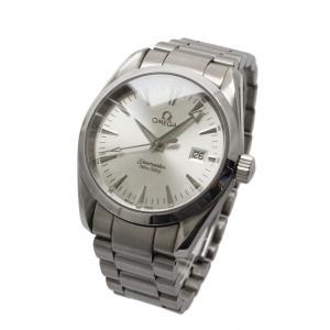 OMEGA オメガ シーマスター アクアテラ メンズ腕時計 2518.30 日付け表示 クォーツ 電池式 150m/500ft防水 シルバー 中古|goldeco