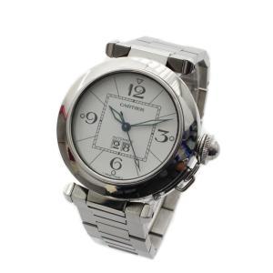 Cartier カルティエ パシャC ビッグデイト ボーイズ腕時計 W31055M7 メンズ レディース ステンレス オートマ 自動巻き シルバー ホワイト文字盤 中古|goldeco