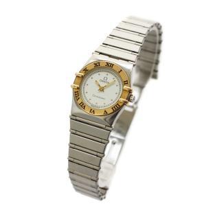 オメガ コンステレーション レディース腕時計 コンビ 電池式 クォーツ イエローゴールド シルバー ホワイト文字盤 ステンレス 中古 OMEGA|goldeco
