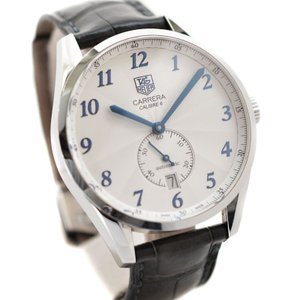 タグホイヤー カレラ ヘリテージ キャリバー6 メンズ 腕時計 自動巻き デイト ステンレス クロコレザー シルバー文字盤 WAS2111 中古 TAG HEUER|goldeco
