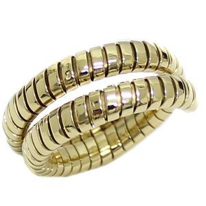 送料無料 新品仕上げ BVLGARI ブルガリ トゥボガス リング メンズ 750 K18YG イエローゴールド スネーク 約26号 蛇状 ブランドジュエリー 指輪 服飾小物 中古 goldeco