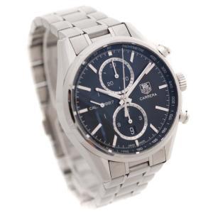 オーバーホール済み タグホイヤー カレラ1887クロノ 腕時計 メンズ 自動巻き ブラック文字盤 シルバー CAR2110.BA0724 中古 送料無料 TAG HEUER goldeco