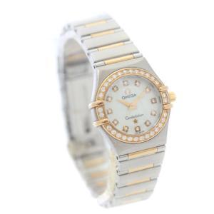オメガ コンステレーション ミニ ダイヤベゼル 腕時計 レディース クオーツ コンビ 1360.75 中古 送料無料 OMEGA|goldeco