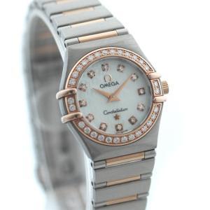 OMEGA オメガ コンステレーション レディース 腕時計 K18PG ステンレス ピンクゴールド シルバー ダイヤ クォーツ ウォッチ 1360.75 中古 goldeco