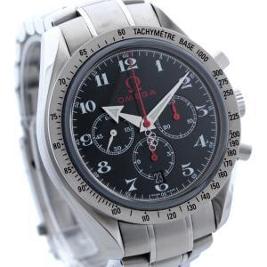 オメガ スピードマスター メンズ 腕時計 ブロードアロー オリンピックコレクション ステンレス シルバー ブラック 自動巻き 3557.50 中古 OMEGA 送料無料|goldeco
