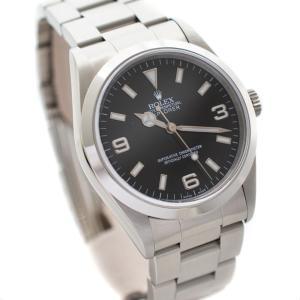 ロレックス エクスプローラー1 腕時計 メンズ 自動巻き ブラック文字盤 シルバー ref.14270 A番 (99年頃製) 中古 送料無料 ROLEX|goldeco