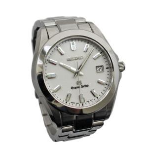 セイコー グランドセイコー 腕時計 メンズ クオーツ ステンレススチール 日付表示 オフホワイト文字盤 シルバー 8J56-8020 中古 送料無料 SEIKO|goldeco