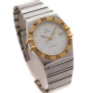 オメガ コンステレーション コンビ 腕時計 メンズ クオーツ ホワイト文字盤 シルバー ゴールド Ref. 1410.20 中古 送料無料 OMEGA|goldeco