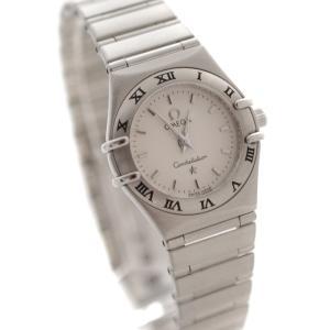 オメガ コンステレーション ミニ 腕時計 レディース クオーツ ホワイト文字盤 シルバー 1562.30 中古 送料無料 OMEGA|goldeco