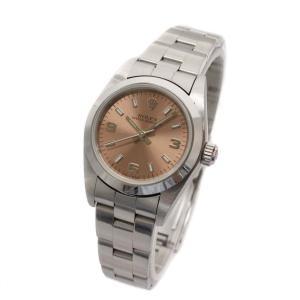 ロレックス オイスター パーペチュアル 腕時計 レディース 自動巻き ピンク文字盤 シルバー 76080 K番 中古 送料無料 ROLEX|goldeco