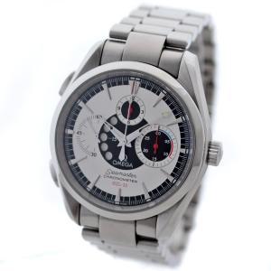 オメガ シーマスター アクアテラ クロノグラフ NZL-32 腕時計 メンズ 自動巻き ホワイト文字盤 シルバー 2513.30 中古 送料無料 OMEGA goldeco