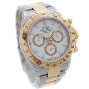 新品仕上げ済み ロレックス コスモグラフ デイトナ  ルーレット 腕時計 メンズ 自動巻き ホワイト文字盤 コンビ 116523/Z番 中古 送料無料 ROLEX goldeco