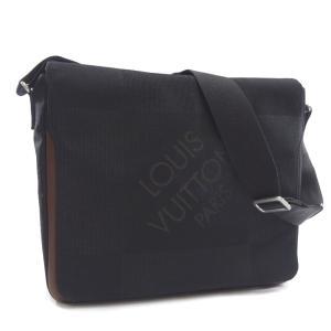 ルイ ヴィトン メサジェ ダミエジェアン ショルダーバッグ メンズ キャンバス レザー ノワール ブラック M93032 中古 送料無料 LOUIS VUITTON|goldeco