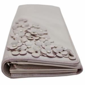 アンテプリマ フラワー 二つ折り 長財布 レディース レザー メタリックカラー ピンク 中古  ANTEPRIMA|goldeco|16
