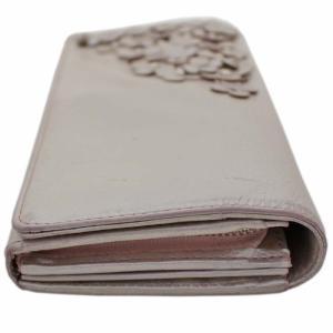 アンテプリマ フラワー 二つ折り 長財布 レディース レザー メタリックカラー ピンク 中古  ANTEPRIMA|goldeco|17
