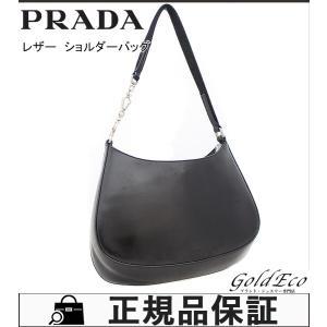 PRADA プラダ レザー トートバッグ レディース ブラック 黒 ショルダーバッグ 中古|goldeco