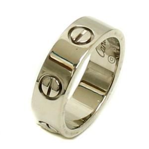 送料無料 新品仕上げ済み Cartier カルティエ ラブ リング 約10号 #50 レディース K18WG 750 ホワイトゴールド 指輪 ブランドジュエリー 中古 goldeco