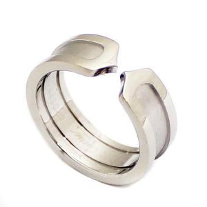 新品仕上げ済み カルティエ C2 リング・指輪 レディース K18ホワイトゴールド ジュエリー 10号 WG 中古 送料無料 CARTIER|goldeco