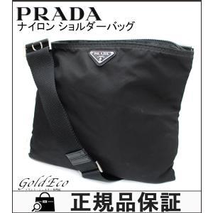 プラダ ナイロン ショルダーバッグ ブラック 斜め掛け 黒 テスート 鞄 レディース メンズ 中古 PRADA|goldeco