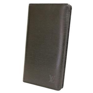 ルイヴィトン エピ ポルトカルトクレディ 二つ折り 札入れ ノワール ブラック M63212 メンズ 財布 エピ レザー 黒 中古 LOUIS VUITTON 送料無料|goldeco