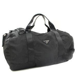 送料無料 PRADA プラダ 2way ボストンバッグ メンズ レディース 旅行鞄 ナイロン ブラック 黒 中古|goldeco