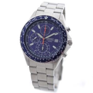 美品 セイコー パイロット クロノグラフ 逆輸入モデル 腕時計 メンズ クオーツ ブルー文字盤 シルバー SND255PC 中古 送料無料 SEIKO|goldeco