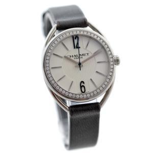 ショーメ リアン ダイヤベゼル 腕時計 レディース クオーツ ホワイト文字盤 シルバー グレー W23211-01A 中古 送料無料 Chaumet|goldeco
