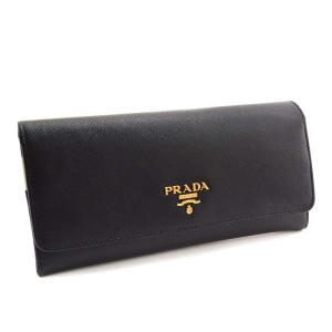 プラダ サフィアーノ 二つ折り 長財布 レディース レザー ブラック 赤/白/ピンク 1MH132 中古 送料無料 PRADA|goldeco