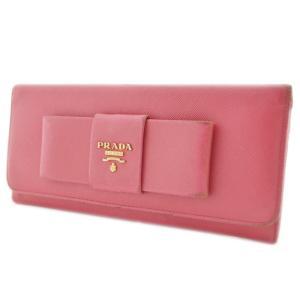 プラダ 二つ折り ピンク 長財布 レディース レザー ピンク 1M1132 中古  PRADA|goldeco