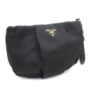 プラダ リストレットポーチ ポーチ レディース ナイロン レザー ブラック 1N1422 中古 送料無料 PRADA|goldeco