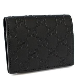 美品 グッチ GG シマ  カードケース ユニセックス シマレザー ブラック 410120 中古 送料無料 GUCCI|goldeco