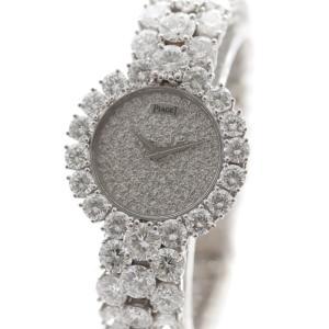 PIAGET ピアジェ レディース クォーツ ウォッチ K18WG ダイヤモンド ラウンド ハイジュエリー ラグジュアリー 無垢 フルダイヤ 腕時計 中古