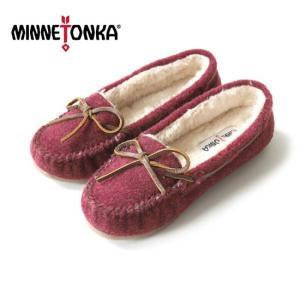 [SALE] ミネトンカ ボアライニング モカシン MINNETONKA Kacey Slipper キミィ スリッパー シューレース フラットシューズ ペッタンコシューズ 靴 レディース