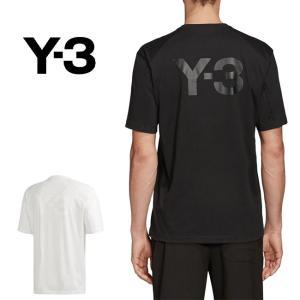 Y-3 ワイスリー バックロゴ Tシャツ FN3348 FN3350 Yohji Yamamoto ...