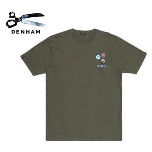 025480f1feb3 [TIME SALE 40%OFF 6/11(火) 9:59まで] DENHAM デンハム ワッペンロゴ 胸ポケット Tシャツ Honour  T-Shirt メンズ