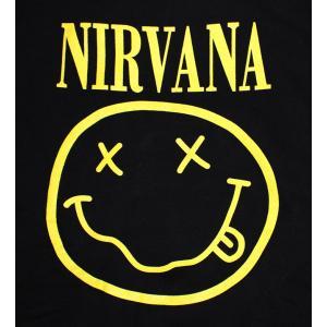 NIRVANA パーカー ニルバーナ パーカー ニルヴァーナ パーカ バンドパーカー rock ロック バンド ニコちゃん スマイル NEVERMIND 得トク2WEEKS golden-t 02