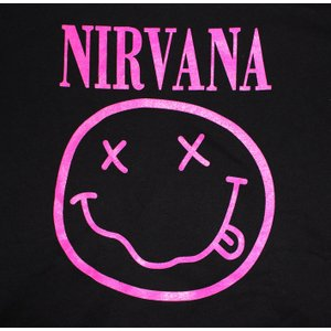 NIRVANA パーカー ニルバーナ パーカー ニルヴァーナ パーカ バンドパーカー rock ロック バンド ニコちゃん スマイル NEVERMIND 得トク2WEEKS golden-t 03