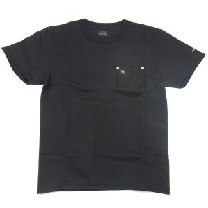 SCHOTT ショット LEATHER POCKET T-SHIRTS レザー ポケット Tシャツ ワンスター メンズ レディース ポケT ブラック 3163030|goldentijuana