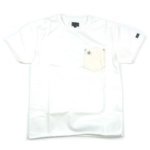 SCHOTT ショット LEATHER POCKET T-SHIRTS レザー ポケット Tシャツ ワンスター メンズ レディース ポケT ホワイト 3163030|goldentijuana