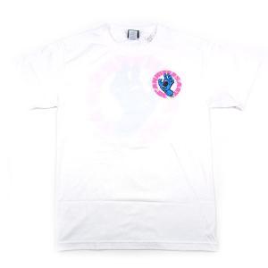 SANTACRUZ サンタクルーズ SCREAMING HAND 30TH ANIV. スクリーミング ハンド 30周年 LIMITED PRINT T-SHIRTS Tシャツ 限定 ホワイト|goldentijuana