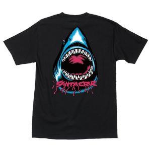 SANTACRUZ サンタクルズ BITER S/S T-SHIRTS バイター 半袖 Tシャツ シャーク メンズ レディース ブラック|goldentijuana