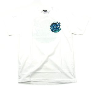 SANTACRUZ サンタクルズ WAVE DOT TIEDYE TEE ウェーブドット Tシャツ 半袖 カットソー トップス プリントT ホワイト メンズ レディース|goldentijuana