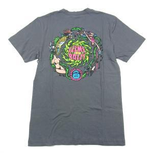 SANTACRUZ サンタクルズ SLIMEBALL VOMIT TEE スライムボール Tシャツ 半袖 カットソー プリントT トップス チャコール メンズ レディース|goldentijuana