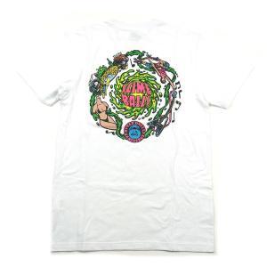 SANTACRUZ サンタクルズ SLIMEBALL VOMIT TEE スライムボール Tシャツ 半袖 カットソー プリントT トップス ホワイト メンズ レディース|goldentijuana