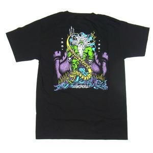 SANTACRUZ サンタクルズ JASON JESSEE NEPTUNE T-SHIRTS ジェイソン ジェシー ネプチューン Tシャツ 半袖 メンズ レディース TEE ブラック|goldentijuana