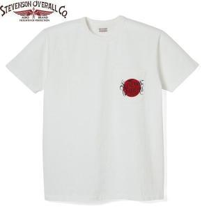 STEVENSON OVERALL スティーブンソン オーバーオール Graphic T-shirt Rising Sun POCKET ライジングサン ポケット Tシャツ ポケT GTRP|goldentijuana