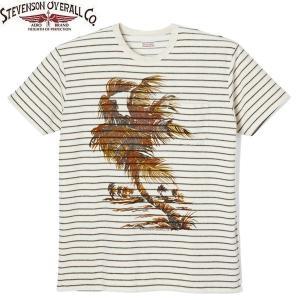 STEVENSON OVERALL スティーブンソン オーバーオール TERRY CLOTH BEACH SHIRTS T-shirt テリークロス ビーチ シャツ パイル 半袖 BS2 送料無料|goldentijuana